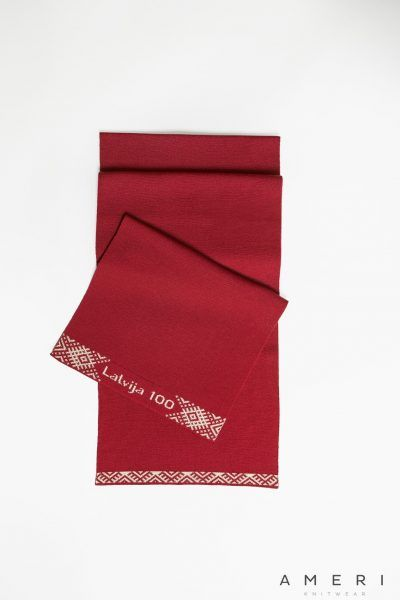 "Scarf ""Latvia 100"" with Ornaments"