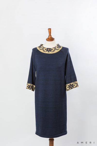 "Dress ""Spīdola"" with Latvian Ornament"