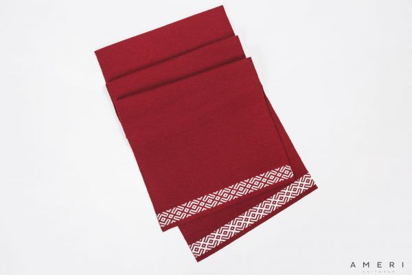 Scarf with Latvian Ornaments at Both Ends