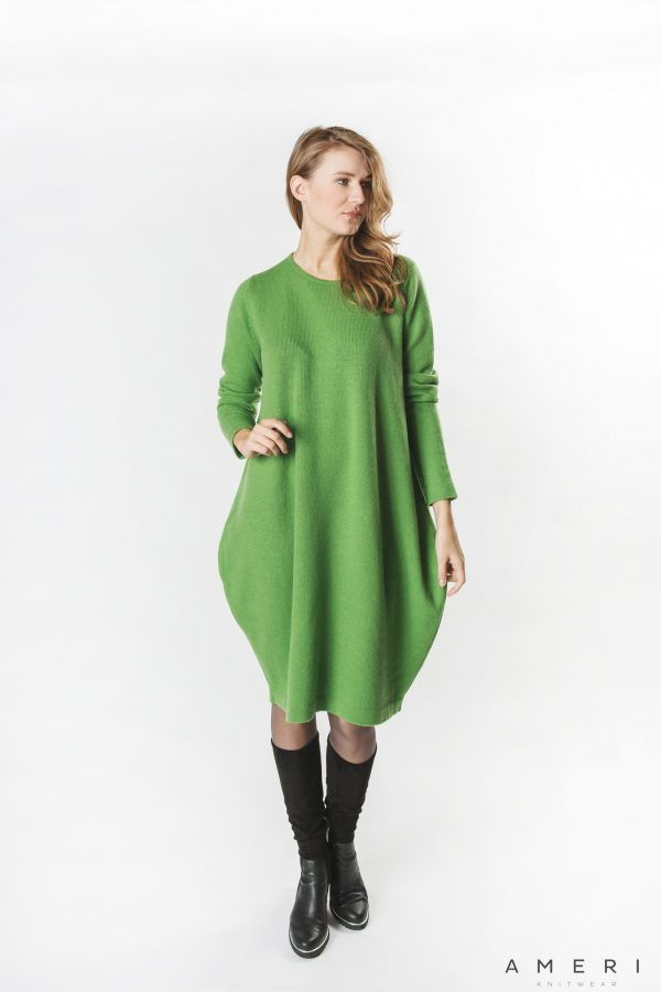 Wool Cashmere Balloon Dress