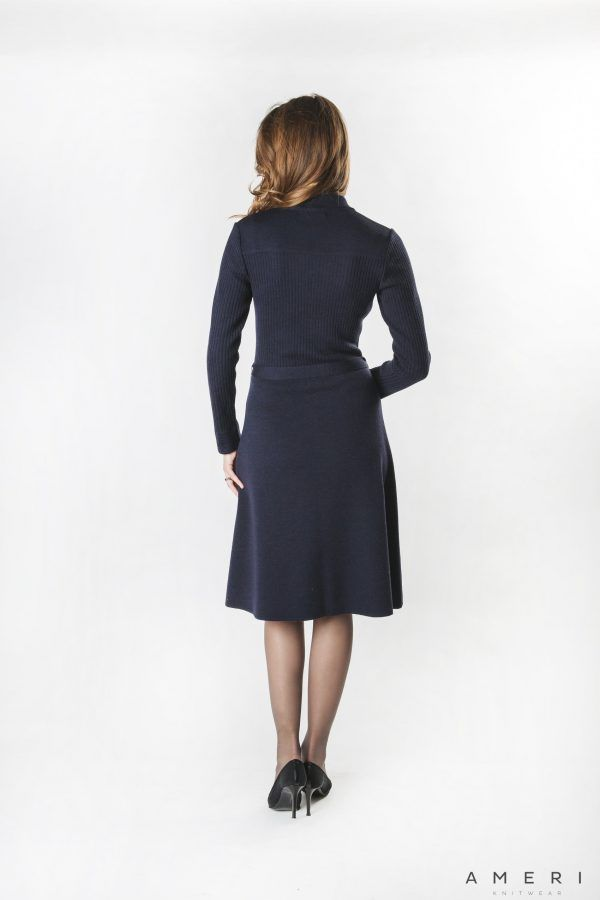 Merino Dress with Zipper