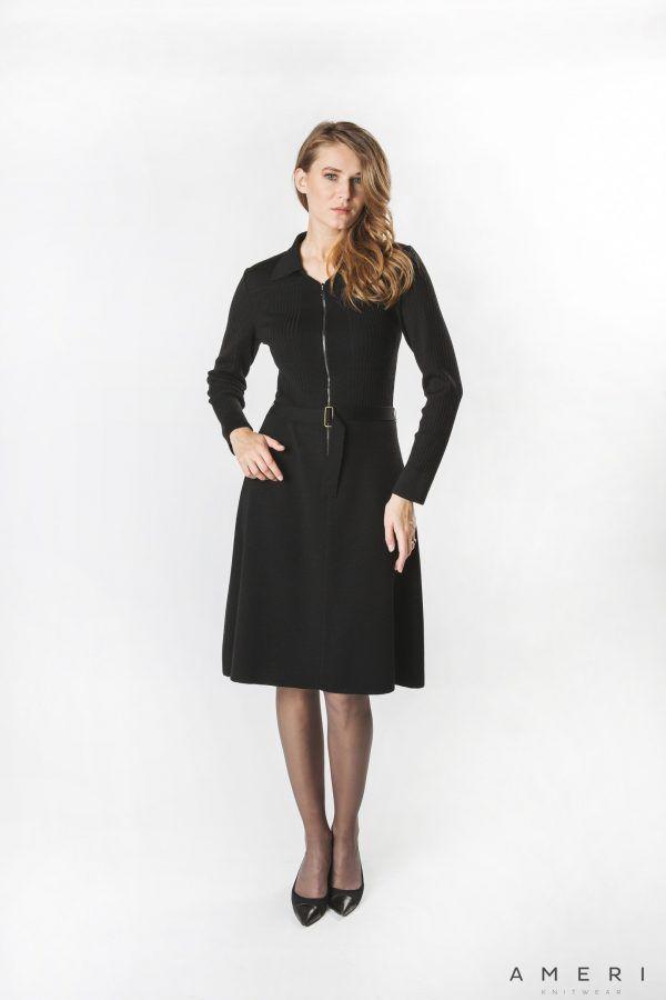 Merino Dress with Zipper
