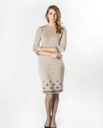 Short Skirt with Latvian Ornament