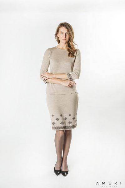 Short Skirt with Latvian Ornament