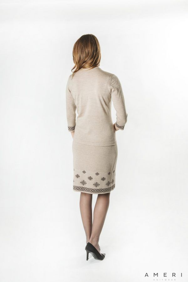 Sweater with Latvian Ornament