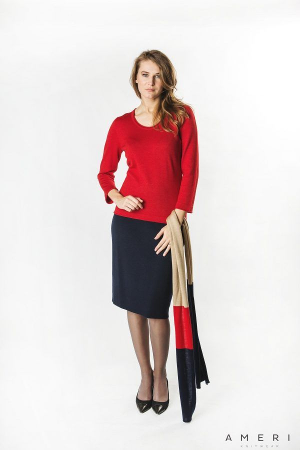Wool Cashmere Basic Sweater