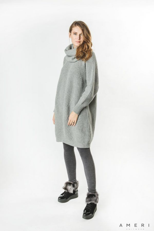 Wool Cashmere Loose Tunic