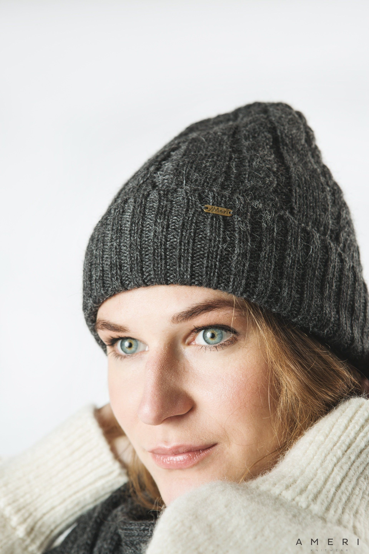 Alpaka cepure ar pīņu rakstu
