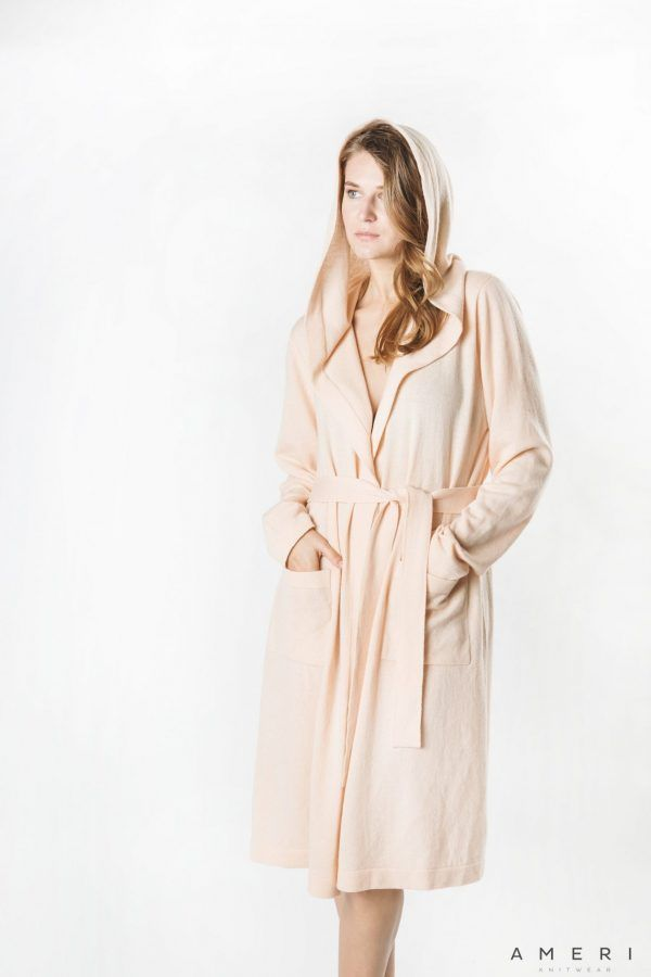 Cashmere Bathrobe with Hood