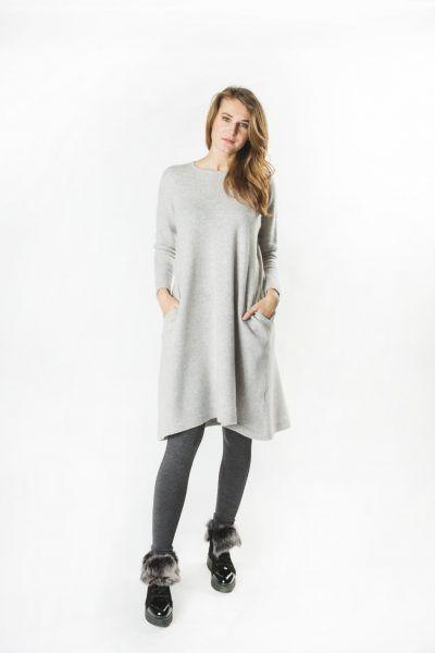 Wool Cashmere A-Line Dress